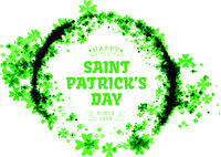 St Patricks day. Vector background vector illustration with clover leaves