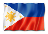 Philippines flag isolated on white