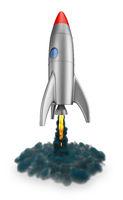 Rocket flies up
