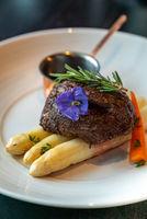 Grilled Beef Tenderloin White Asparagus