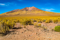 Volcanic landscape at Uyunu in Bolivia