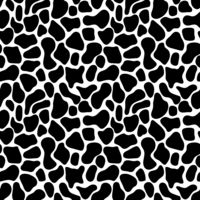 Abstract seamless pattern with black spots