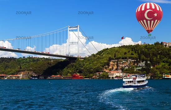 Bosphorus bridge Istanbul, Turkey.