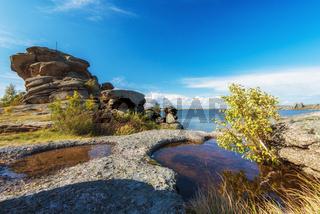 Beauty view on Kolyvan lake