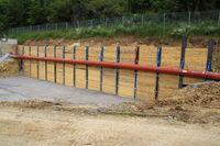 Abwasserleitung im Zulauf einer Kläranlage wurde für Umbauarbeiten verlegt