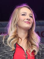Sängerin Natalie Lament bei einem Auftritt am 03.10.2018 in Magdeburg