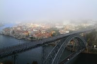 The Dom Luis I Bridge across the River Douro in Porto