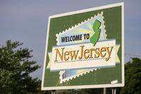 Welcome to New Jersey Highway Message Billboard Roadsign