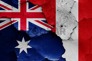 flags of Australia and Peru