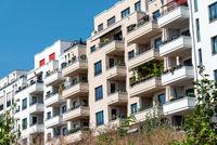 Neu gebaute Wohnhäuser
