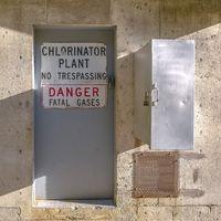 Chlorinator Plant No Trespassing Danger sign