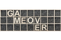 Wooden letters game over broken