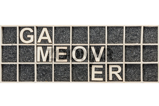 Wooden letters game over broken
