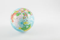 Northern hemisphere of a world globe isolated on white background. Travel, environment and education