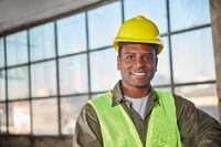Afrikanischer Arbeiter oder Lagerarbeiter