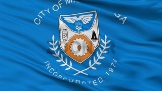 Mississauga City Flag, Canada, Closeup View