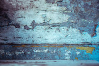 Wood background with peeling paint