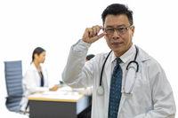senior Doctor in examination room