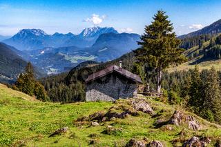 Panoramablick auf Berge gegen Himmel