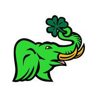 Green Elephant Shamrock Icon