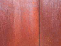 rusty steel panels with rough weathered orange brown texture