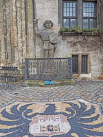 Quedlinburger Roland und Stadtwappen