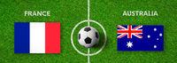 Football match France vs. Australia