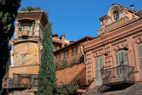 Historical building view of Theater of puppets of Tbilisi