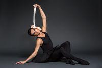 ballet dancer with dark makeup