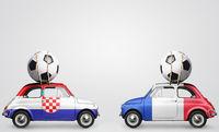 France and Croatia football cars