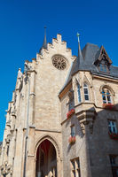 Architectural details of Town Hall in Efrurt, main city of Thuringia in Germany