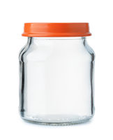 Small empty glass jar with lid