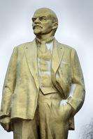 Bronze monument of Lenin.
