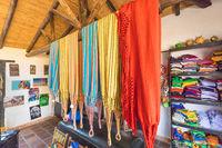 Colombian colored hammocks