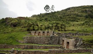 Exterior view to archaeological site of Tambomachay, Cuzco, Peru