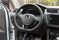 A fragment of the interior of a modern car.