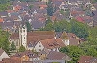 St. Pankratius und Runder Turm von  Singen-Bohlingen