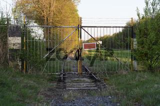 Gate on abandoned railroad track