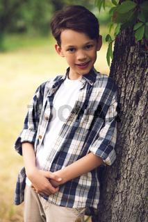 Portrait of cuite little boy.