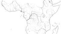 World Map of EQUATORIAL AFRICA REGION: Central Africa, Congo, Zaïre, Kenya, Tanzania. (Geographic chart).