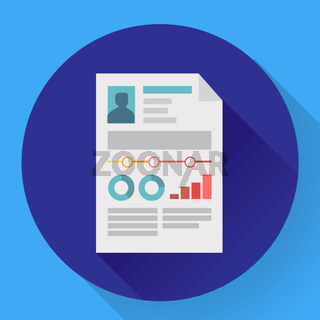 resume icon cv icon flat. business concept cv resume