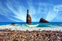 Three rocks near the beach