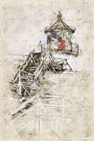 Digital artistic Sketch of a Lighthouse on Amrum in Germany