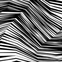 Abstract Warped Black and White Lines Background