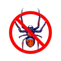 No exotic spiders, red forbidden sign on white
