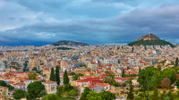 Athens city at twilight