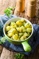 Cooked Potatoes with Parsley