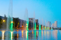 Fountains music light show Kiev