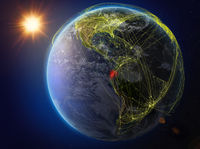 Ecuador on Earth with network