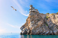 Beautiful view on the Swallow Nest Castle, Crimea